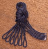 Six Navy Blue Lanyards - Fender Ropes (8mm x 2 metre)